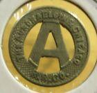 1922 The Aurora, IL Elgin & Chicago RR Co. Transit Trolley Token - Illinois Ill.