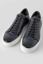 Untamed Street Soho meteorite-blue patina leather sneakers (size Us 11 / Eur 44)