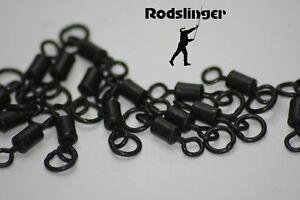 Flexi ring swivels size 8 non glare - Carp fishing 20 pk good quality!