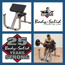 BODY SOLID USA GPCB329  HEAVY DUTY COMMERCIAL BICEP ARM CURL PREACHER BENCH