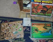 Rare vintage pik n' stick Magic Magnets Land of the Dinosaurs play set Sharin