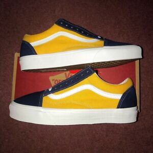 Vans Old Skool Blue & Yellow Trainers Mens Size UK 9 Brand New With Tags