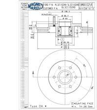 Disc Brake Rotor-RWD Front Magneti Marelli 1AMVR10254