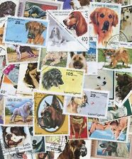 100 Different Dogs on Stamps Thematics Crafts/Projects *STOCK PICTURE*