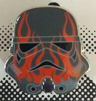 Disney Star Wars Stromtrooper Helmets Mystery Pin Set Red Flames