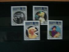 Ascension,1985,Queen Mother,Life And Times,4 Vals,Complete Set,U/Mint.