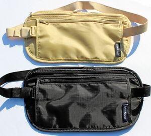 Bauchtasche Gürteltasche Geldgürtel flache Hüfttasche Geldversteck Bodybag klein