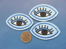 "Hipster Style 2.5 BY 1.5"" EYE CHARM applique  IRON ON  SEW ON embroidered PATCH"