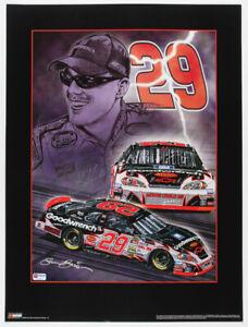 Kevin Harvick signed limited edition 18x24 Sam Bass print NASCAR autographed COA