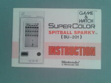 NINTENDO GAME&WATCH SUPER COLOR SPITBALL SPARKY BU-201 ORIGINAL MANUAL VERY GOOD