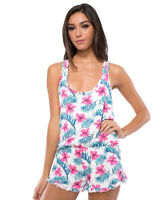 Spiritual Gangster Pink Hibiscus Floral Romper, small *NEW without Tags*