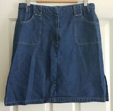 Denim Above Knee A-Line Skirts for Women