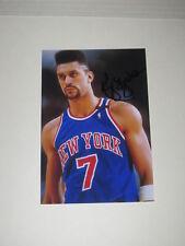 New York Knicks KENNY WALKER Signed 4x6 Photo NBA AUTOGRAPH