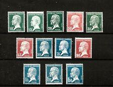FRANCE (522) 1923  YV170-81  SG396-400d PASTEUR FULL SET12  FINE MOUNTED MINT