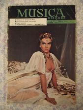 Musica Disques n° 57 Giacomo Puccini; Janine Charrat; musique Finlandaise; 1959
