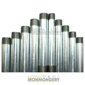 Steel Conduit Tube - Pre Cut and Threaded Short Lengths   20mm and 25mm Diame...