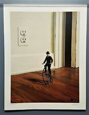 """""""Tiny Bicycle"""" David Mann Abstract Art Print, Hand Signed & Numbered- big wheel"""
