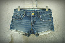 AMERICAN EAGLE Sixe 0 2 3 Exposed Star Pockets Hot Mini Denim Short Shorts