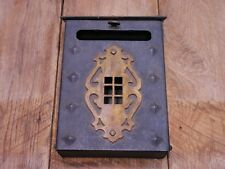 Vintage Mailbox-City-Street-Brownstone-Big City-Heavy Steel-Slot-Open