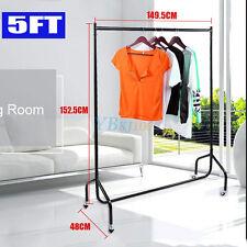 Heavy Duty Portable Garment Rail Clothes Home Shop Storage Display All Metal 5f