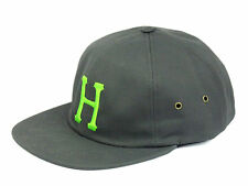 HUF CLASSIC H 6 PANEL CAP CHARCOAL - AUTHENTIC - IMPORTED FROM USA