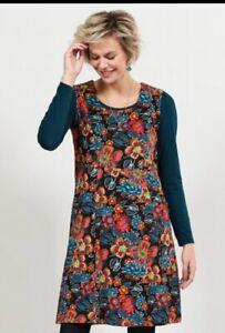 FAIR TRADE NOMADS -  Gypsy Print Cord Pinafore Dress (GY3039)