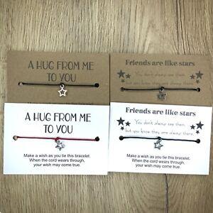20x Wholesale Make A Wish Bracelet HUG Friendship lockdown Gift Family Bulk Lot