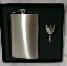 Brand New Maxam 8 Oz Stainless Steel Hip Flask Open Box