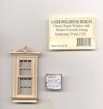 Half 1/24 Scale - Victorian Single Window LD0760 dollhouse miniature USA GA
