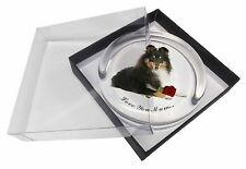 Sheltie+Rose 'Love You Mum' Glass Paperweight in Gift Box Christma, AD-SE1RlymPW