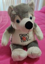 Great Wolf Lodge Stuffed Wolf Animal 15 Inches Tall From Feet To Head