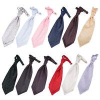 DQT Premium Jacquard Swirl Wedding Scrunchie Ruche Pre-tied Men's / Boys Cravat