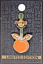 Hard Rock Cafe Atlanta Pin Football Peach Guitar 2018 - 2019 New LE # 101459