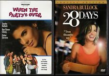 WHEN THE PARTY'S OVER & 28 DAYS-2 movies-SANDRA BULLOCK party girl lives it up
