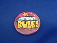 "Lot of 12 ""BIRTHDAYS RULE!"" BUTTONS pins PARTY FAVOR Store Flea Market Resale!"