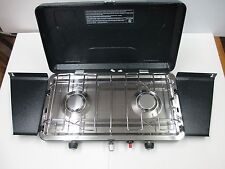 Cabin Creek 205-CC Two Burner Propane Stove with Piezo Lighter