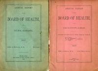 1887 Selma, Dallas County Alabama, Public Health: white & black medical issues