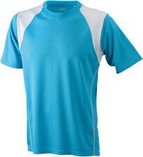 Maglie e top da uomo t-shirt bianca in poliestere per palestra, fitness, corsa e yoga