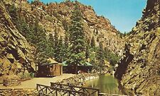 Pavillon Pool &  ChrCurio Shop at foot of Seven Falls CO Springs Chome  Postcard