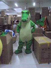 New Green crocodile Mascot Costume Fancy Dress Adult Suit Size R77