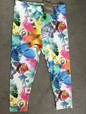 NEXXT - MULTI COLOURED LEGGINGS WITH BUTTERFLIES ALL OVER THEM - 18-24m BNWT