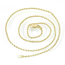 14K Yellow Gold 16 Inch Rope Chain 3.3 Grams