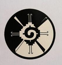"Hunab Ku Sacred Geometry Mayan Galactic Butterfly vinyl decal sticker 3.5"" round"