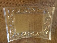 Vintage heavy glass photo frame with clear film still attached to cover