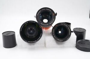 Three Zeiss C mount lenses for Arriflex or micro 4/3 cameras