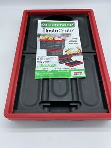 Greenmade InstaCrate Collapsible Storage Container Black/Red