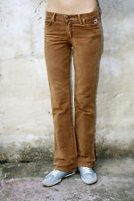 """Roy ROGER'S """"Stefy"""" donna VINTAGE OCRA Denim Jeans Bootcut W28 UK10 look!"""