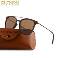 KEITHION TR90 Mens Womens Sunglasses Polarized Vintage Retro UV400 Glasses