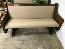 """Vintage Cushioned Church Pew Altar Religious 60"""" Pick Up"""