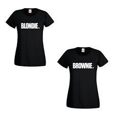 BLONDIE BROWNIE printed tshirts Hip Hop Rapper best friend t-shirts besties